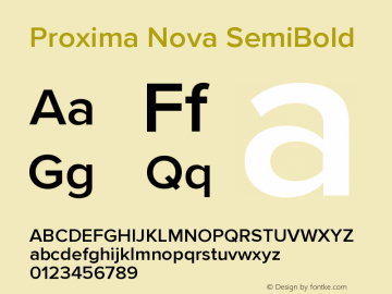 ProximaNova-SemiBold Version 3.005;com.myfonts.easy.marksimonson.proxima-nova.semibold.wfkit2.version.4EmE图片样张