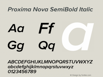 ProximaNova-SemiBoldItalic Version 3.005;com.myfonts.easy.marksimonson.proxima-nova.semibold-it.wfkit2.version.4EpL图片样张