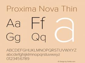 ProximaNova-Thin Version 3.005;com.myfonts.easy.marksimonson.proxima-nova.thin.wfkit2.version.4EkQ图片样张