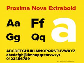 Proxima Nova Extrabold Version 2.003图片样张