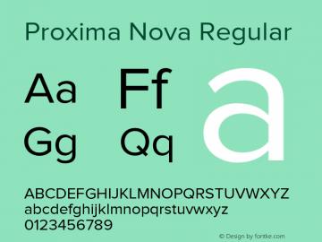 Proxima Nova Rg Regular Version 1.101;PS 001.001;hotconv 1.0.38图片样张