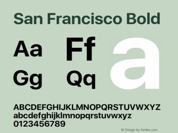SanFrancisco-Bold 11.0d33e2--BETA Font Sample