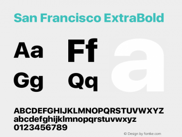 SanFrancisco-ExtraBold 11.0d33e2--BETA Font Sample
