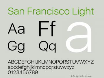 SanFrancisco-Light 11.0d33e2--BETA Font Sample