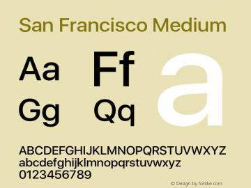 SanFrancisco-Medium 11.0d33e2--BETA Font Sample