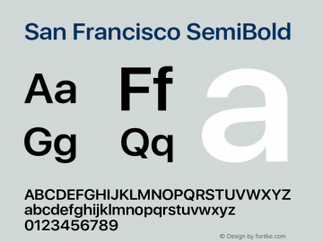 SanFrancisco-SemiBold 11.0d33e2--BETA Font Sample