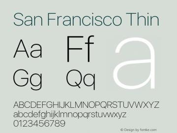 SanFrancisco-Thin 11.0d33e2--BETA Font Sample