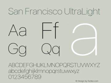 SanFrancisco-UltraLight 11.0d33e2--BETA Font Sample