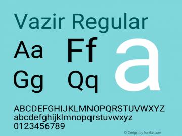 Vazir Version 24.1.0图片样张