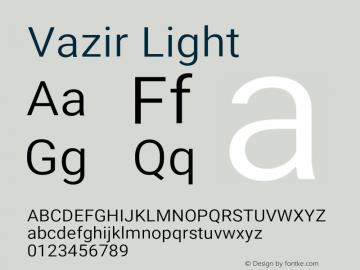 Vazir Light Version 24.1.0图片样张