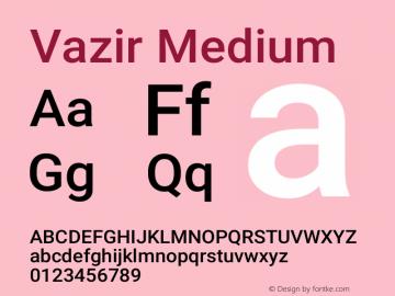 Vazir Medium Version 24.1.0图片样张