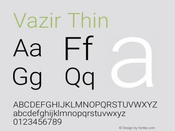 Vazir Thin Version 24.1.0图片样张
