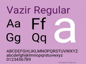 Vazir Version 26.0.2图片样张