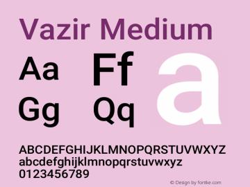 Vazir Medium Version 26.0.2图片样张