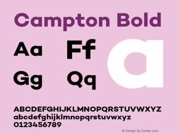 Campton Bold Version 1.002;PS 001.002;hotconv 1.0.88;makeotf.lib2.5.64775图片样张