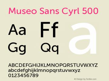 MuseoSansCyrl-500 Version 1.023图片样张