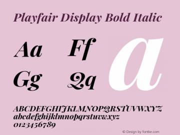 Playfair Display Bold Italic Version 1.200; ttfautohint (v1.8.2)图片样张