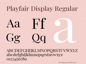 Playfair Display Regular Version 1.200; ttfautohint (v1.8.2)图片样张
