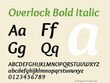 Overlock Bold Italic Version 1.002图片样张