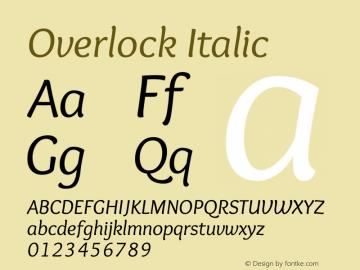 Overlock Italic Version 1.002图片样张