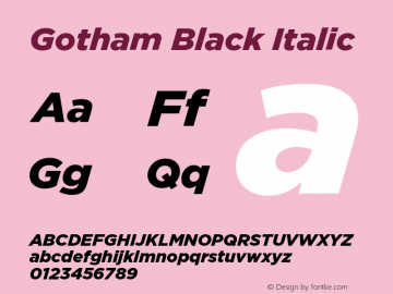 Gotham-BlackItalic Version 1.200图片样张
