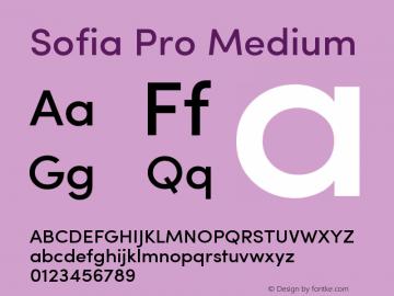 Sofia Pro Medium Version 2.000 Font Sample