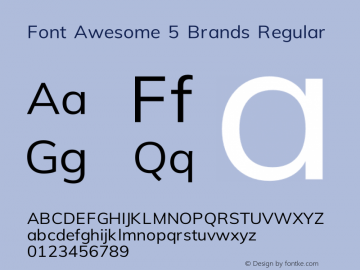 Font Awesome 5 Brands Regular 331.264 (Font Awesome version: 5.14.0)图片样张