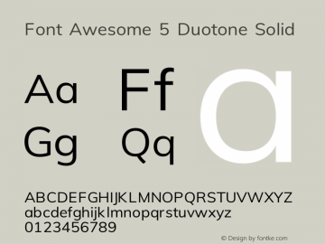 Font Awesome 5 Duotone Solid 331.264 (Font Awesome version: 5.14.0)图片样张