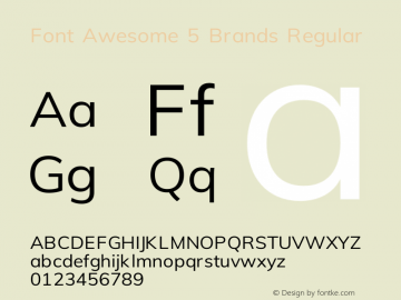 Font Awesome 5 Brands Regular 331.521 (Font Awesome version: 5.15.1)图片样张