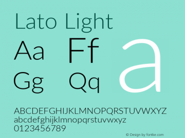 Lato Light Version 2.015; 2015-08-06; http://www.latofonts.com/; ttfautohint (v1.6)图片样张