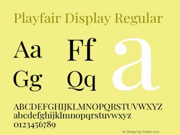 Playfair Display Regular Version 1.200; ttfautohint (v1.6)图片样张