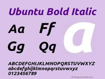 Ubuntu Bold Italic 0.83图片样张