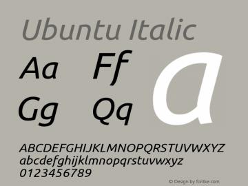 Ubuntu Italic 0.83图片样张