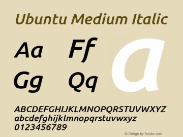 Ubuntu Medium Italic 0.83图片样张