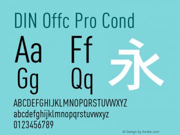 DIN Offc Pro Cond Version 7.504; 2009; Build 1023图片样张