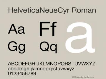 HelveticaNeueCyr-Roman 001.000图片样张