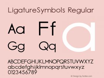 Ligature Symbols Version 2.05图片样张