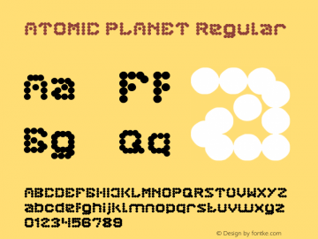 ATOMIC PLANET Version 1.00;February 10, 2018;FontCreator 11.0.0.2412 64-bit图片样张