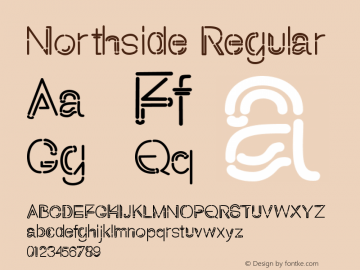 Northside Version 1.00;May 7, 2020;FontCreator 11.5.0.2430 64-bit图片样张