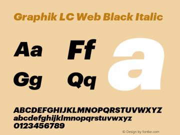 Graphik LC Web Black Italic Version 001.000 2009图片样张