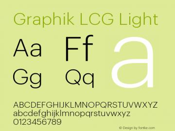 GraphikLCG-Light Version 1.2; 2012 Latin, Cyrillic and Greek图片样张
