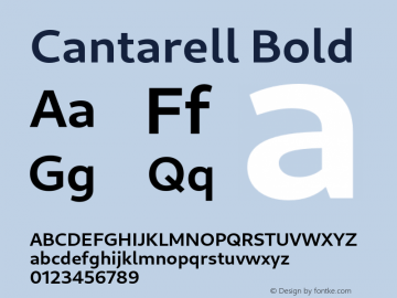 Cantarell Bold Version 0.201图片样张