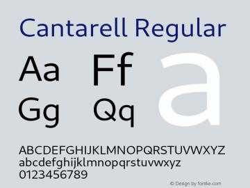 Cantarell Regular Version 0.201图片样张