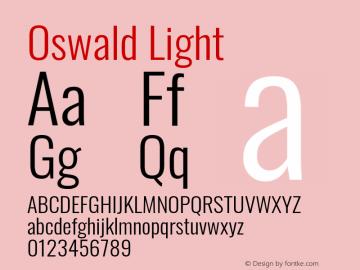 Oswald Light Version 4.100; ttfautohint (v1.8.1.43-b0c9)图片样张
