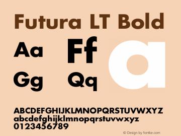 Futura LT Bold Version 006.000图片样张