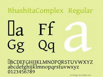 BhashitaComplex Version 1.000 2009 initial release图片样张