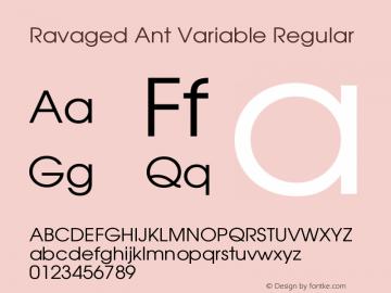 Ravaged Ant Variable Regular Version 1.001;FEAKit 1.0图片样张