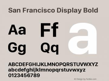 SanFranciscoDisplay-Bold 10.0d27e2--BETA图片样张