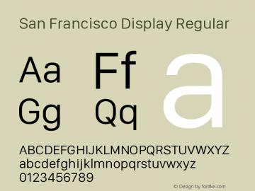 SanFranciscoDisplay-Regular 10.0d27e2--BETA图片样张