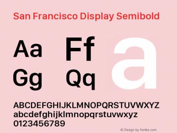 SanFranciscoDisplay-Semibold 10.0d27e2--BETA图片样张